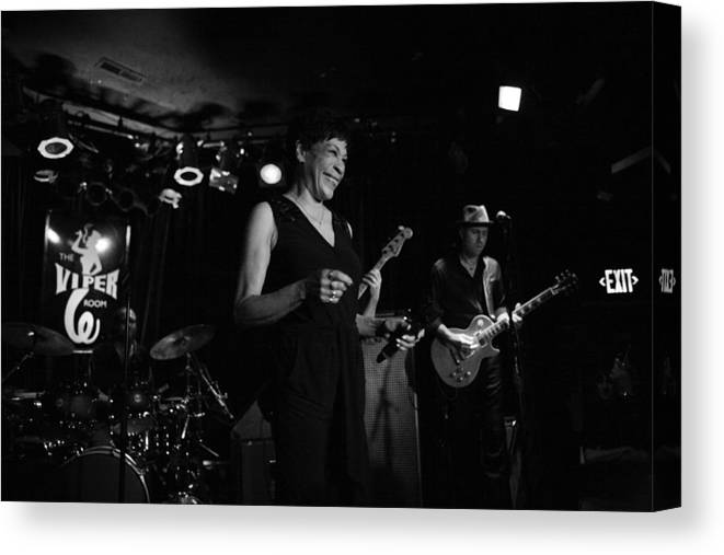 Soul Music Canvas Print featuring the photograph Bettye Lavette Performs In Los Angeles by Jim Steinfeldt