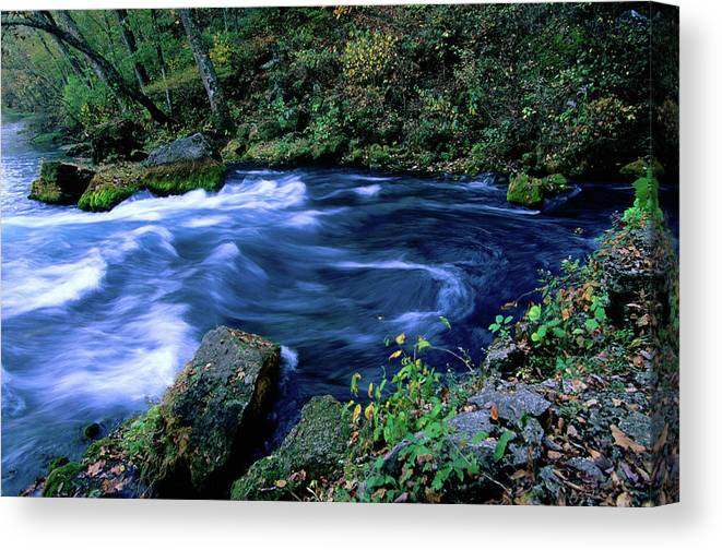 Scenics Canvas Print featuring the photograph Big Spring, Ozarks National Scenic by John Elk Iii