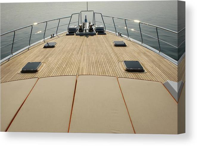 Seascape Canvas Print featuring the photograph Boat Deck by 1001nights