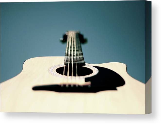 Music Canvas Print featuring the photograph Bokeh String by George Bentley Photography