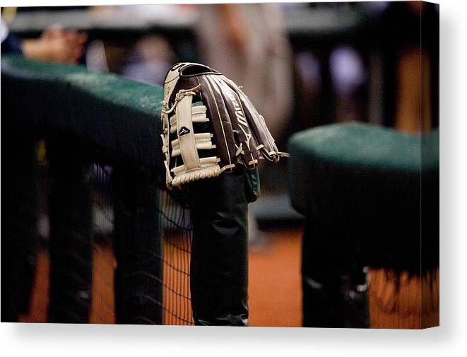 American League Baseball Canvas Print featuring the photograph Boston Red Sox V Tampa Bay Rays by Ronald C. Modra/sports Imagery