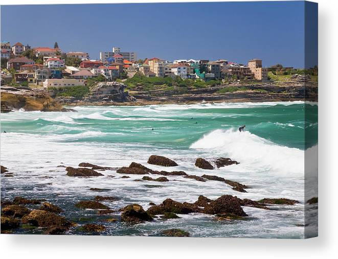 Suburb Canvas Print featuring the photograph Bronte, Sydney, Australia by Peter Adams