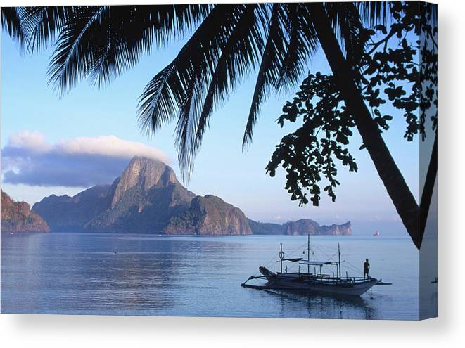 People Canvas Print featuring the photograph Cadlao Island From El Nido, Sunrise by Dallas Stribley