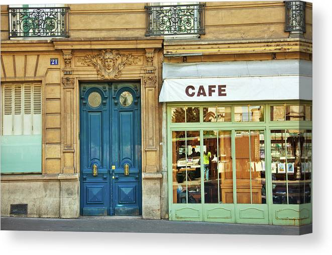 Diner Canvas Print featuring the photograph Cafe In Paris by Nikada