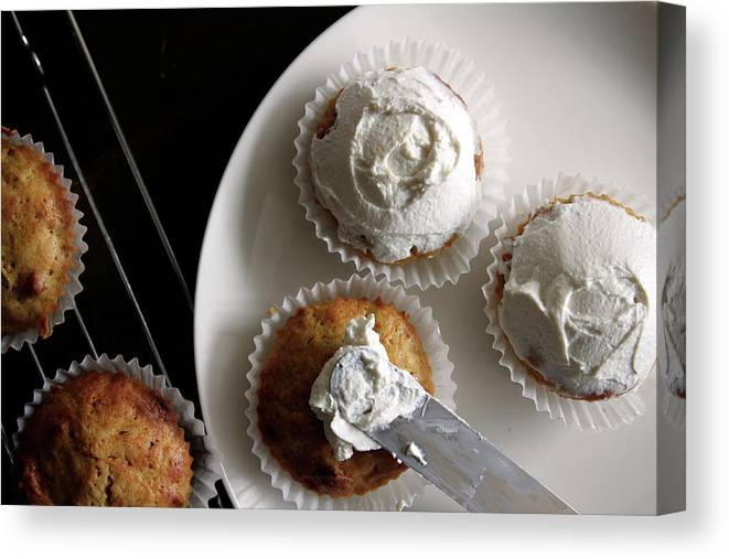 Unhealthy Eating Canvas Print featuring the photograph Carrot Cakes by Quilie