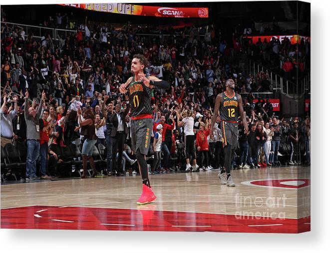 Atlanta Canvas Print featuring the photograph Chicago Bulls V Atlanta Hawks by Jasear Thompson