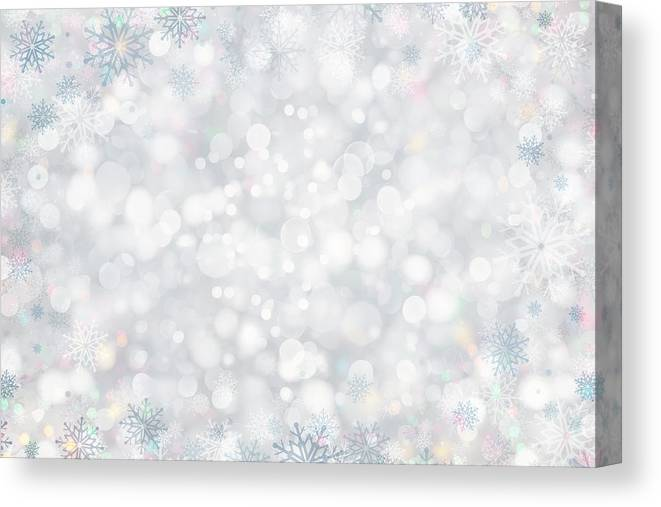 Holiday Canvas Print featuring the photograph Christmas Background by Sbayram