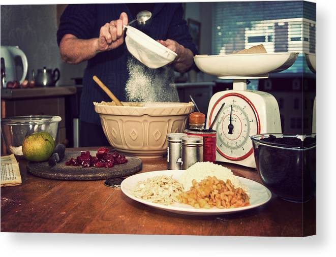 Dublin Canvas Print featuring the photograph Christmas Cake Making by Image By Catherine Macbride