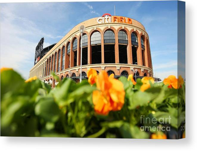 Residential District Canvas Print featuring the photograph Citifield Preview by Mike Stobe