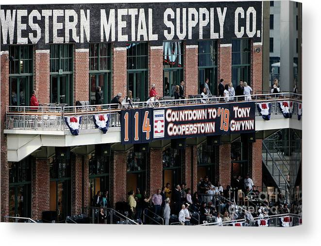 Opening Ceremony Canvas Print featuring the photograph Colorado Rockies V San Diego Padres by Donald Miralle