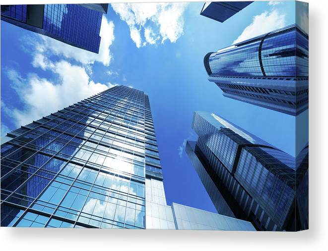 Corporate Business Canvas Print featuring the photograph Corporate Building by Samxmeg