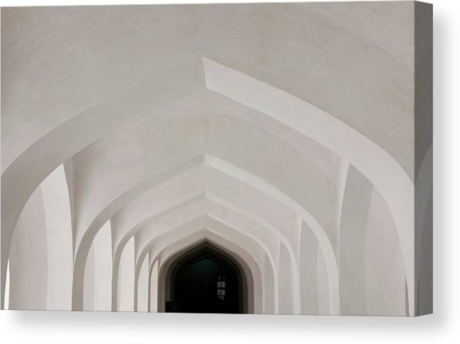 Tranquility Canvas Print featuring the photograph Corridor In Amer Fort, Rajasthan, India by Cultura Exclusive/karen Fox