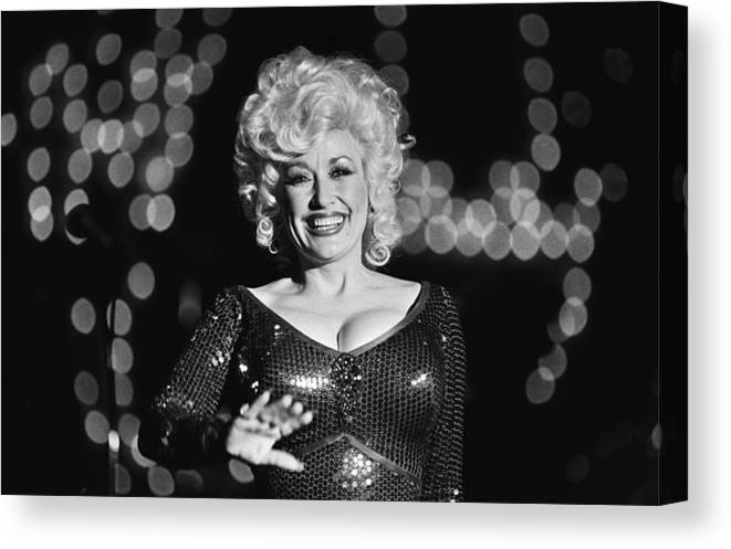 Dolly Parton Canvas Print featuring the photograph Country Singer Dolly Parton In Concert by George Rose