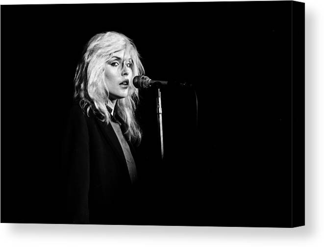 San Francisco Canvas Print featuring the photograph Debbie Harry Performs Live by Richard Mccaffrey