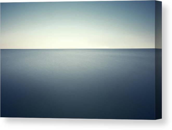 Scenics Canvas Print featuring the photograph Deep Blue Sea by Ppampicture