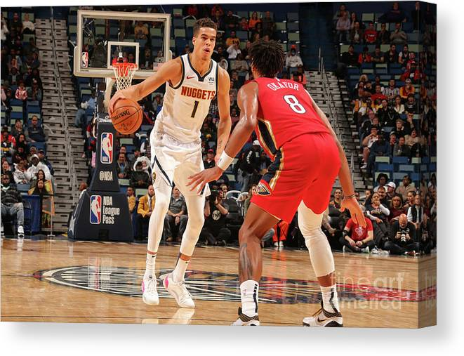 Smoothie King Center Canvas Print featuring the photograph Denver Nuggets V New Orleans Pelicans by Layne Murdoch Jr.