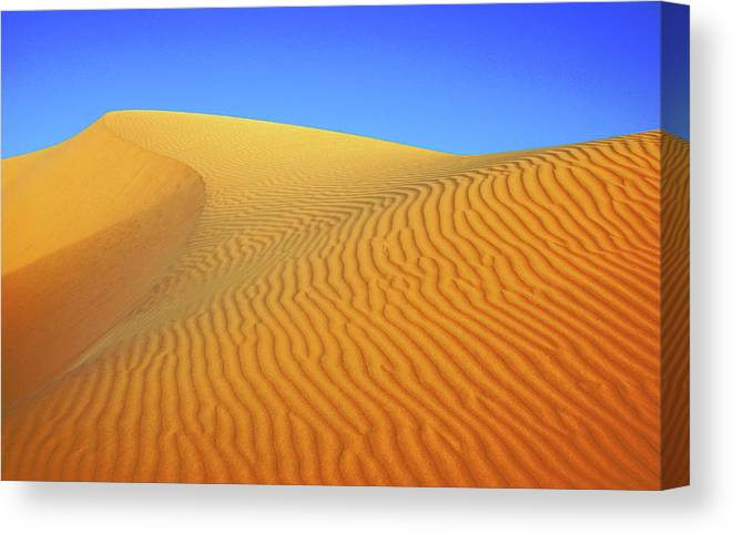Scenics Canvas Print featuring the photograph Diminishing Lines by Asmin Kuntal