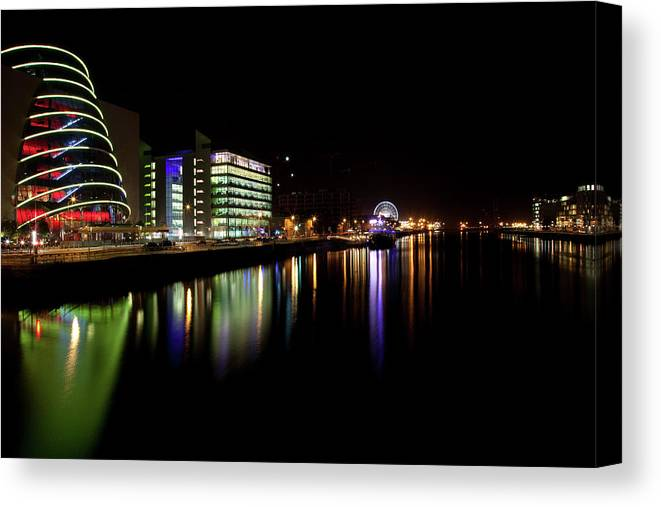 Dublin Canvas Print featuring the photograph Dublin City Along Quays by Image By Daniel King