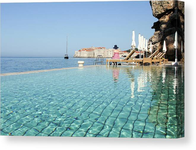 Adriatic Sea Canvas Print featuring the photograph Dubrovnik In Dalmatia, Croatia by Davidcallan