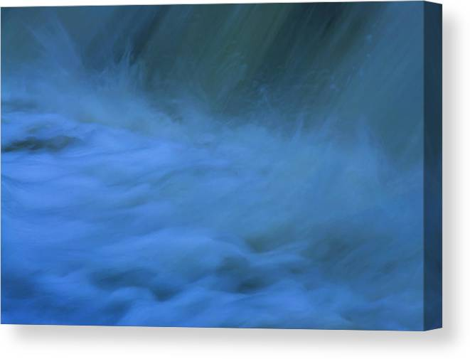 Excitement Beneath Waterfalls Canvas Print featuring the photograph Excitement Beneath Waterfalls by Anthony Paladino