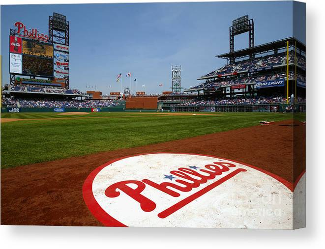 Scenics Canvas Print featuring the photograph Expos V Phillies by Jamie Squire