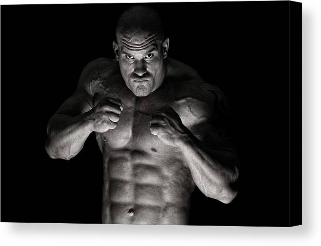 Toughness Canvas Print featuring the photograph Extreme Guy by Vuk8691