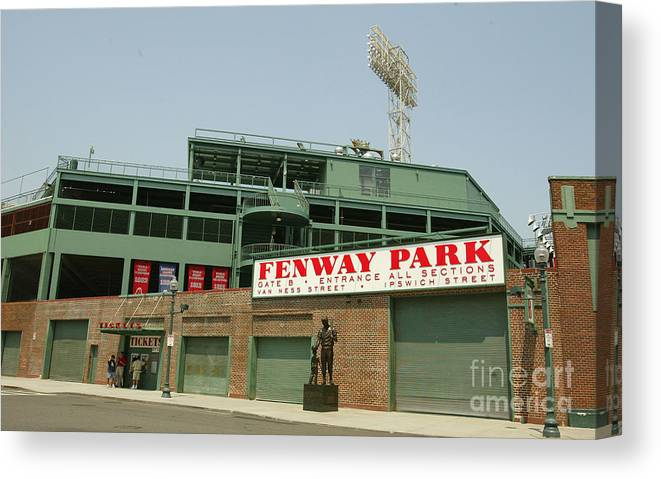American League Baseball Canvas Print featuring the photograph Fenway Park by Getty Images