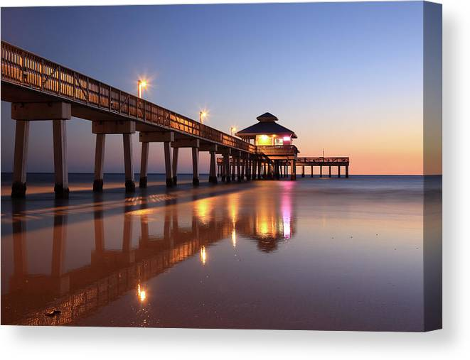 Built Structure Canvas Print featuring the photograph Fort Myers Beach, Florida by Jumper