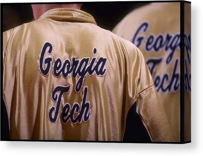 Basketball Team Canvas Print featuring the photograph Georgia Tech by Doug Pensinger