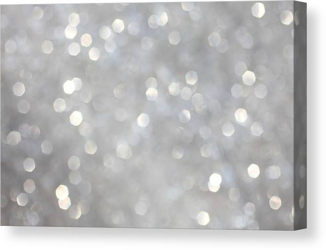Holiday Canvas Print featuring the photograph Glittery Background by Merrymoonmary