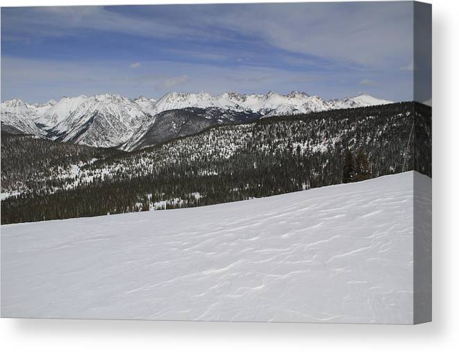 Scenics Canvas Print featuring the photograph Holy Cross Wilderness Area In Winter by John Kieffer