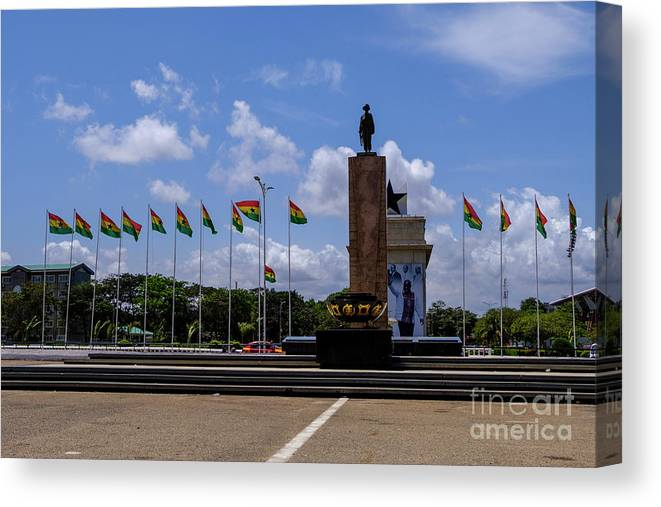 Arch Canvas Print featuring the photograph Independence Square Statue by Rosn123