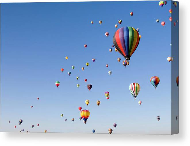 Event Canvas Print featuring the photograph International Balloon Fiesta by Prmoeller