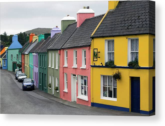 Row House Canvas Print featuring the photograph Ireland, County Cork, Beara Peninsula by Glen Allison