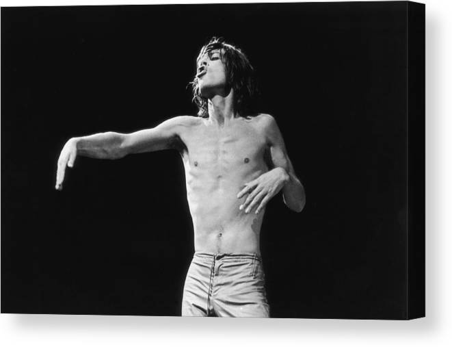 Mick Jagger Canvas Print featuring the photograph Jagger Gestures by Graham Wood