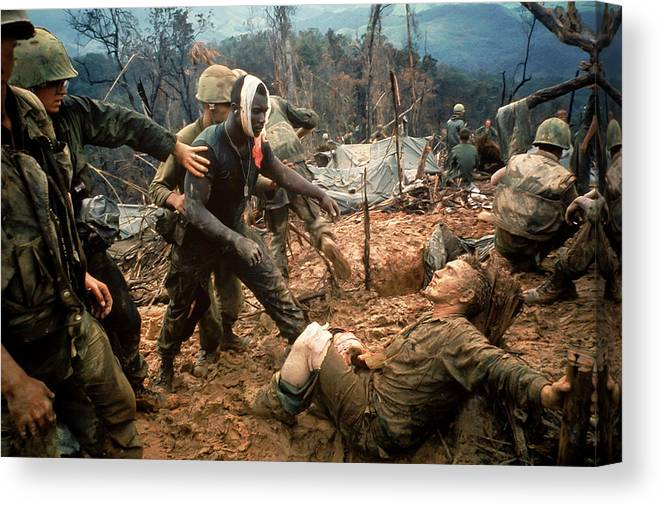 Timeincown Canvas Print featuring the photograph Jeremiah Purdie by Larry Burrows