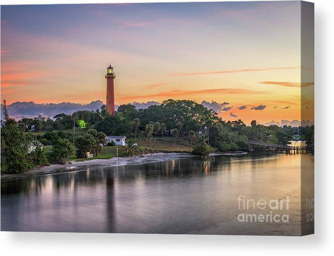 Scenics Canvas Print featuring the photograph Jupiter Inlet Light House by Sean Pavone