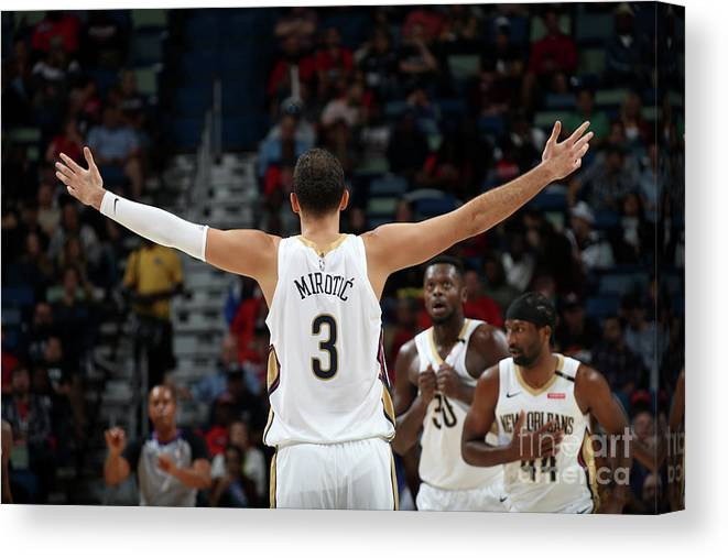 Smoothie King Center Canvas Print featuring the photograph La Clippers V New Orleans Pelicans by Layne Murdoch Jr.