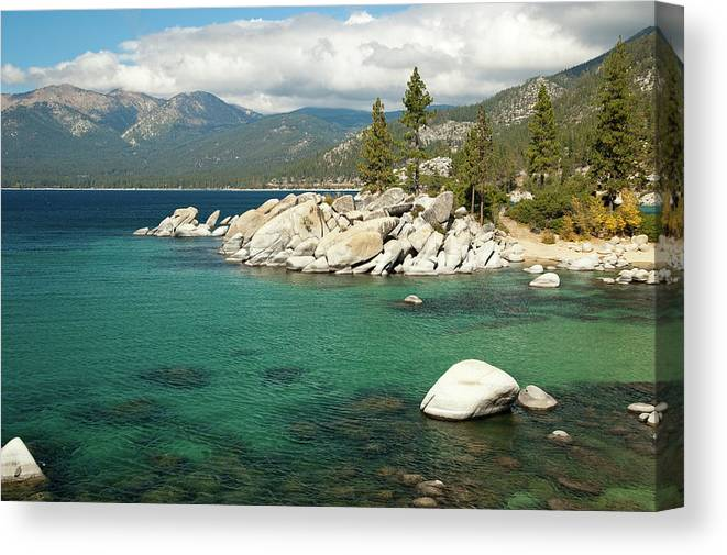 Scenics Canvas Print featuring the photograph Lake Tahoe Landscape by Megan Ahrens