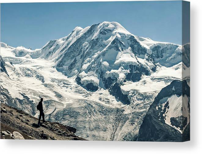 Liskamm Lyskamm 4527m Mountain Peak In Canvas Print Canvas Art By Alpamayophoto