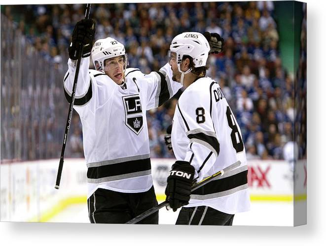 Playoffs Canvas Print featuring the photograph Los Angeles Kings V Vancouver Canucks - by Rich Lam