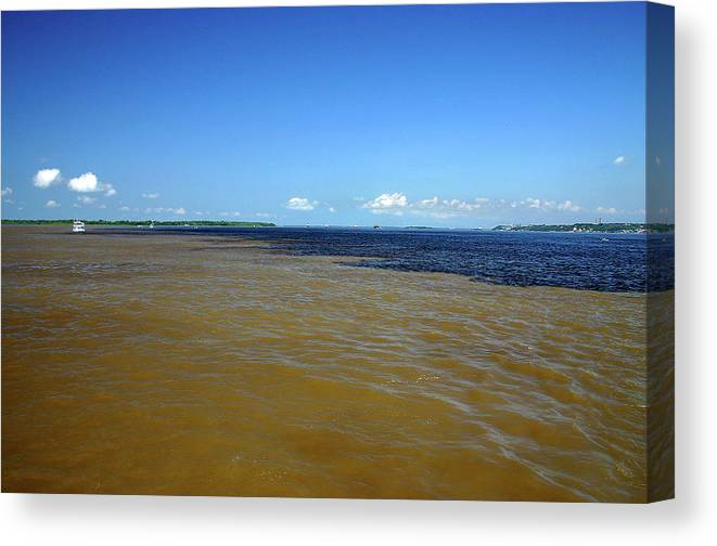 Scenics Canvas Print featuring the photograph Meeting Of Waters by Eduardo Bassotto
