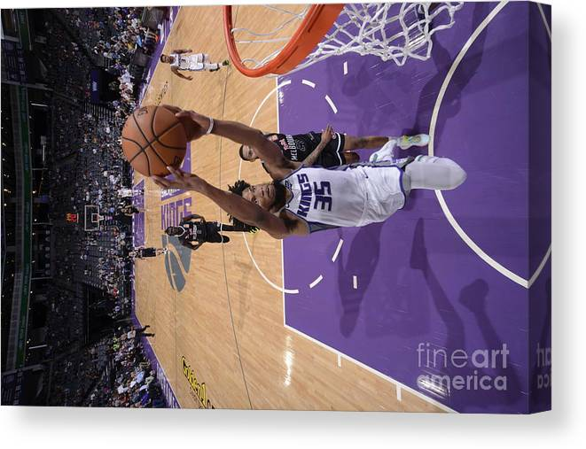 Nba Pro Basketball Canvas Print featuring the photograph Melbourne United V Sacramento Kings by Rocky Widner