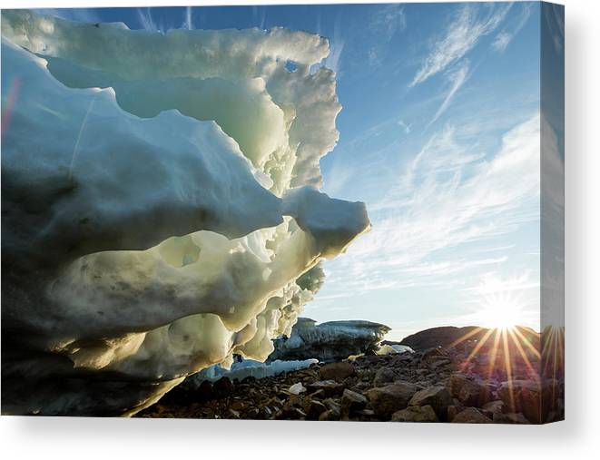 Scenics Canvas Print featuring the photograph Melting Iceberg, Nunavut Territory by Paul Souders