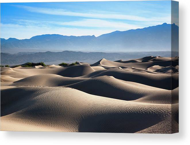 Scenics Canvas Print featuring the photograph Mesquite Flat Sand Dunes by Walter Bibikow