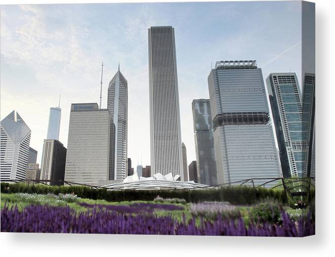 Millennium Park Canvas Print featuring the photograph Millennium Park by By Ken Ilio