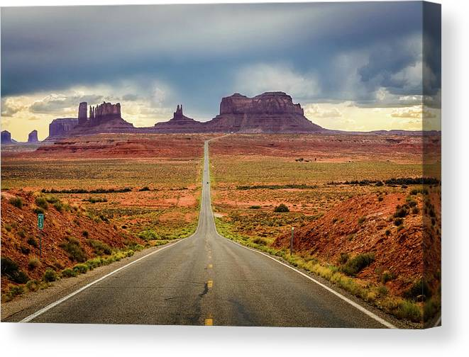 Scenics Canvas Print featuring the photograph Monument Valley by Posnov
