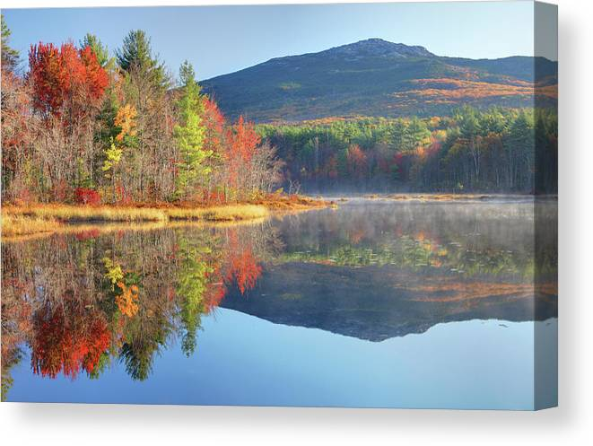 Scenics Canvas Print featuring the photograph Mount Monadnock In Autumn by Denistangneyjr