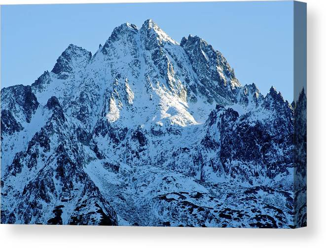 Scenics Canvas Print featuring the photograph Mountain by Yorkfoto