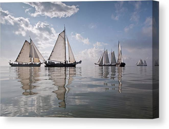 North Holland Canvas Print featuring the photograph Netherlands, Race Of Traditional by Frans Lemmens